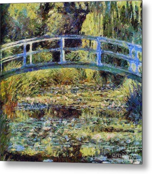 Monet's Bridge Metal Print