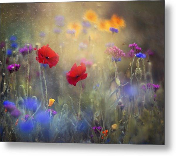 Monet's Garden I Metal Print