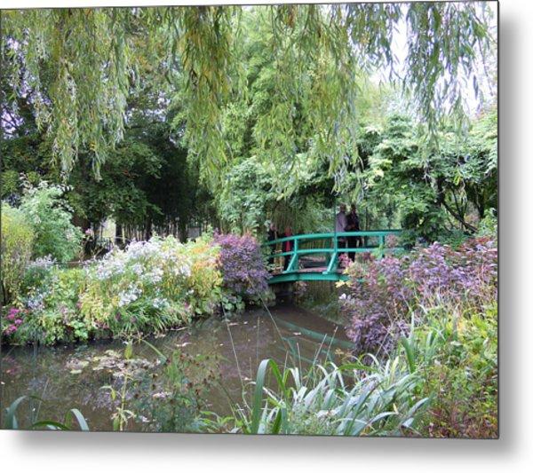 Monet's Japanese Bridge Metal Print