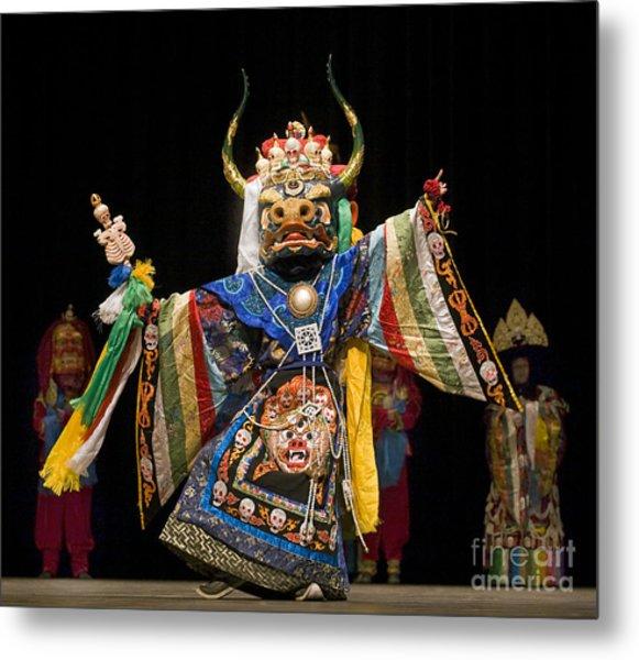 Mongolian Yak Dancer  Metal Print
