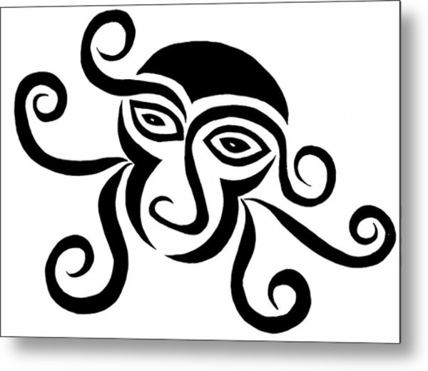 Monkey Head Metal Print