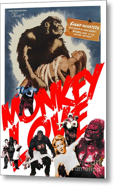 Monkey Love Metal Print