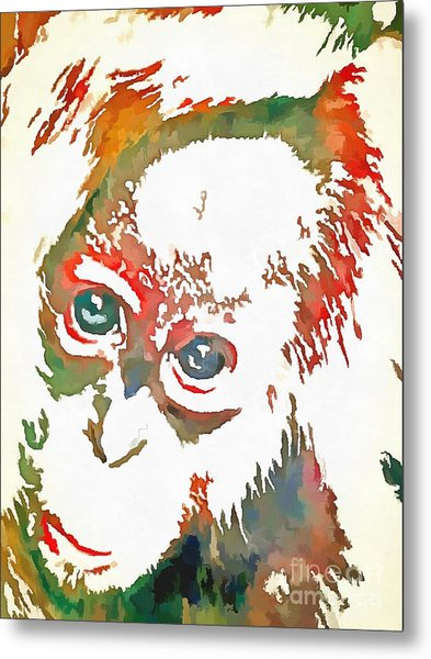 Monkey Pop Art Metal Print