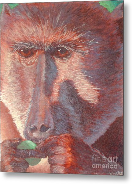 Monkey's Lunch Metal Print
