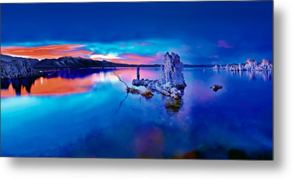 Mono Lake Sunset Metal Print