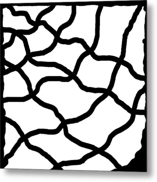 Monochrome New1builder3 Glyph 11 Metal Print