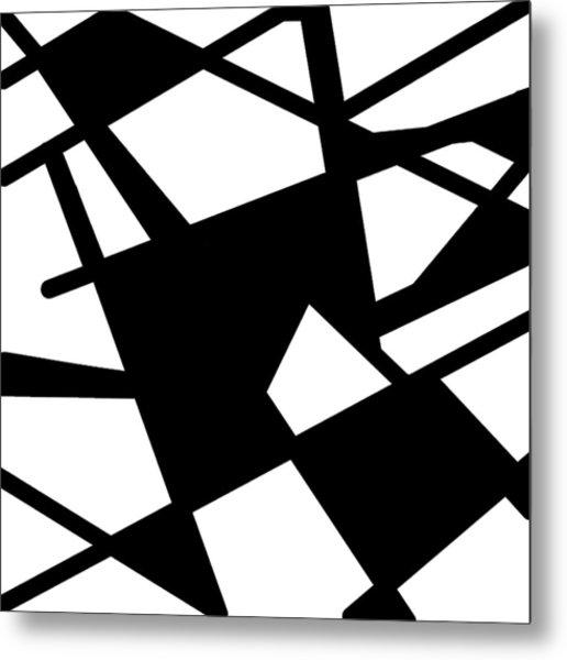 Monochrome New1builder3 Glyph 5 Metal Print
