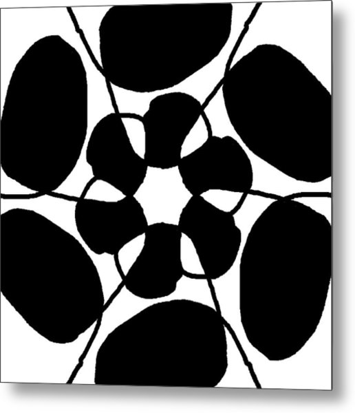Monochrome New1builder3 Glyph 7 Metal Print