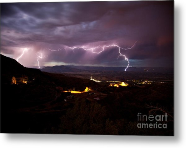 Monsoon Lightning Jerome Metal Print