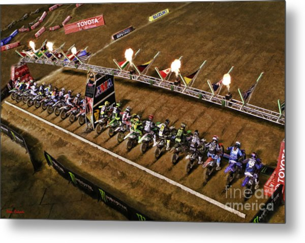 Monster Energy Ama Supercross  450sx Main Metal Print
