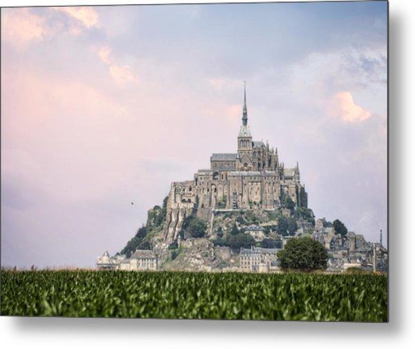 Mont Saint-michel Castle Metal Print