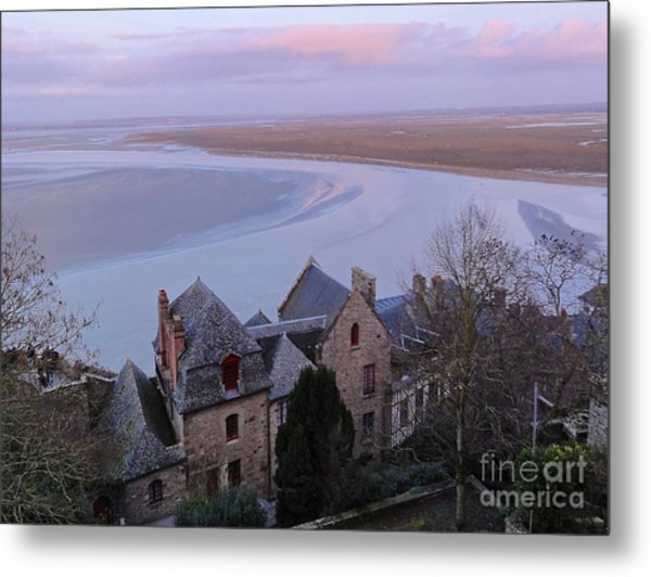 Mont St Michel Tower View Metal Print