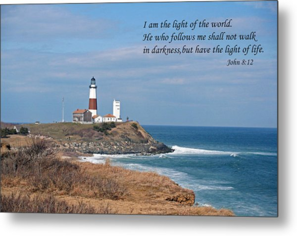 Montauk Lighthouse/camp Hero/inspirational Metal Print