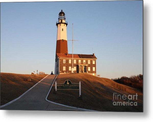 Montauk Lighthouse Entrance Metal Print