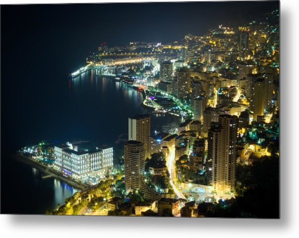 Monte Carlo By Night  Metal Print by Ioan Panaite