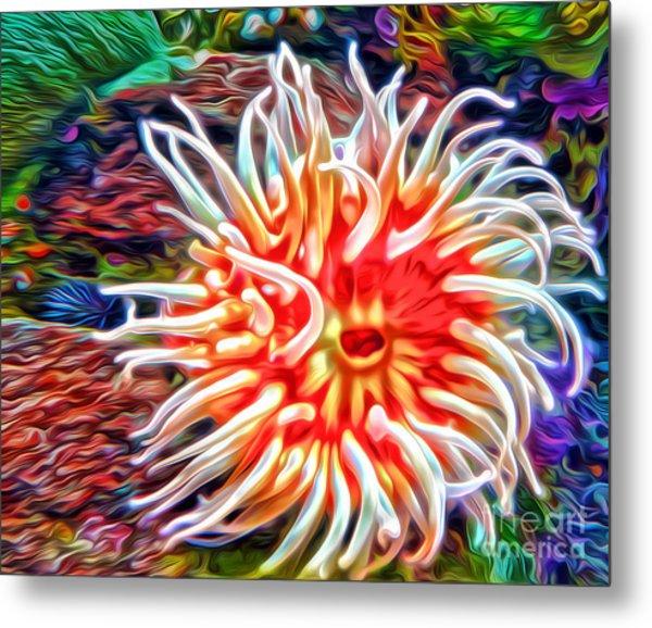 Monterey Bay Aquarium - Anemone Metal Print