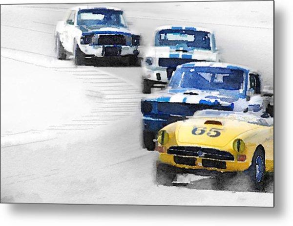 Monterey Racing Watercolor Metal Print