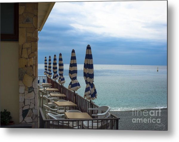 Monterosso Outdoor Cafe Metal Print