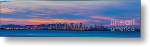 Montreal By Night Metal Print