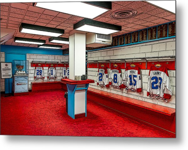 Montreal Canadians Hall Of Fame Locker Room Metal Print