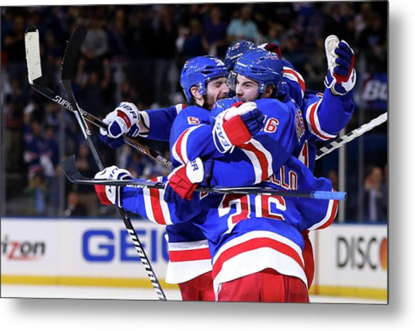 Montreal Canadiens V New York Rangers - Metal Print