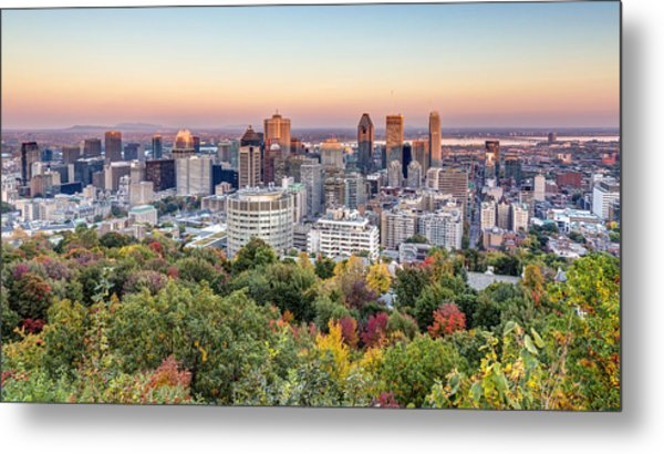 Montreal City In Autumn Metal Print