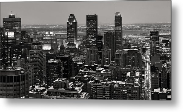 Montreal City Metal Print