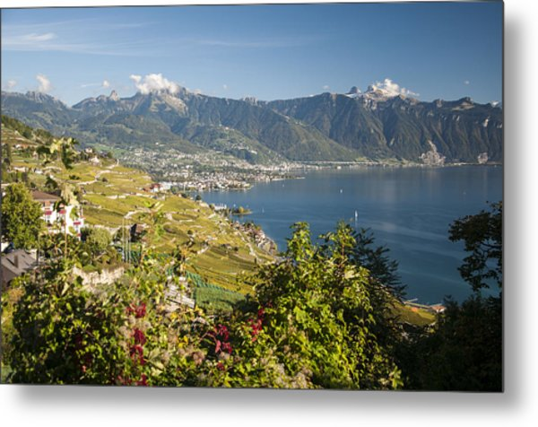 Montreux On Lake Geneva Metal Print