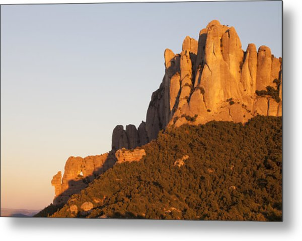 Montserrat At Sunset Metal Print by Javier Fores