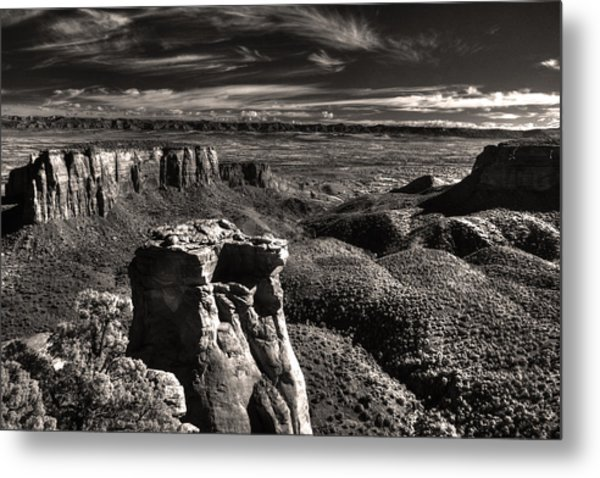 Monument Canyon Monolith Metal Print