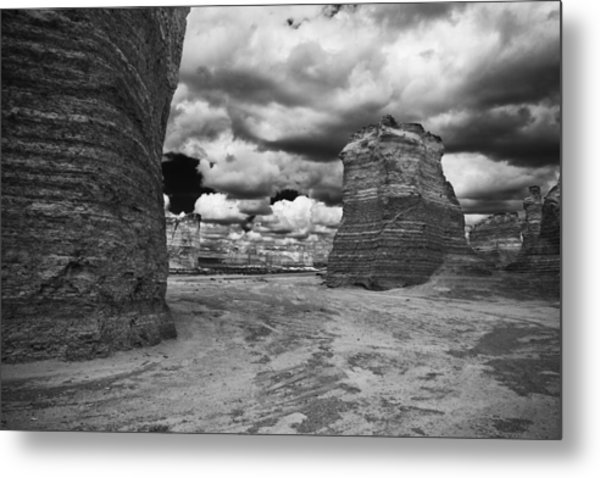 Monument Rock Metal Print