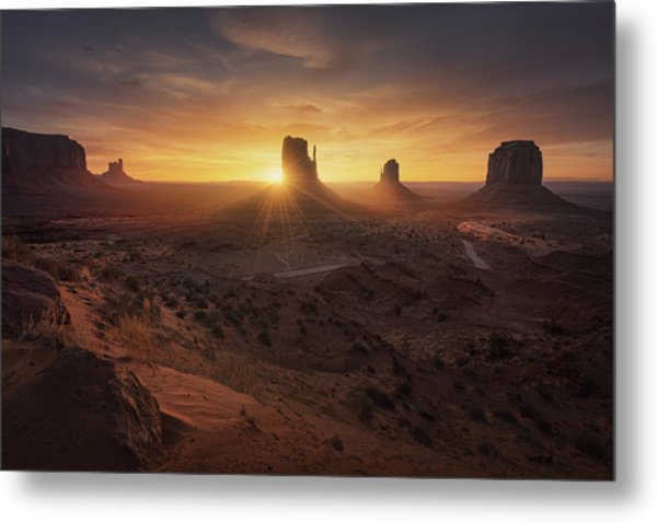 Monument Sunrise. Metal Print