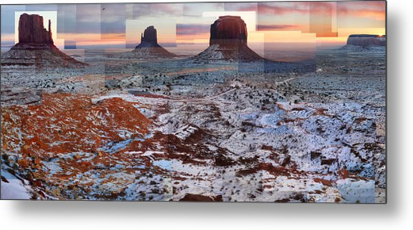 Monument Valley Mittens Metal Print