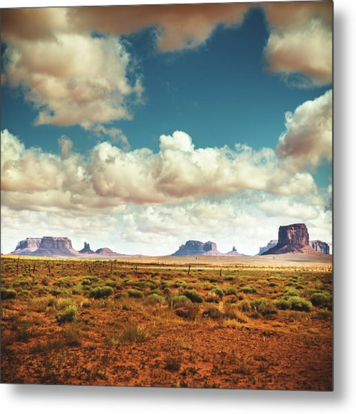 Monument Valley Panoramic View Metal Print by Franckreporter