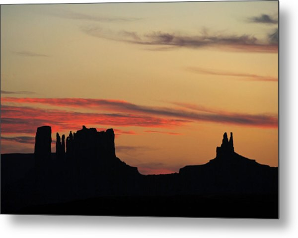 Monument Valley Sunset 1 Metal Print