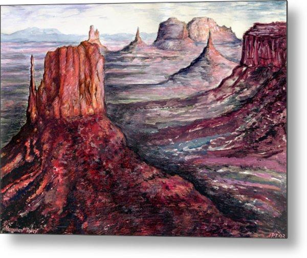 Monument Valley Arizona - Landscape Art Painting Metal Print