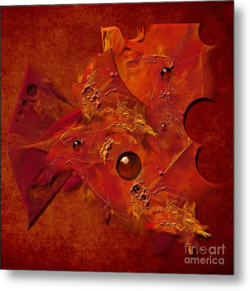 Mood In Orange Metal Print