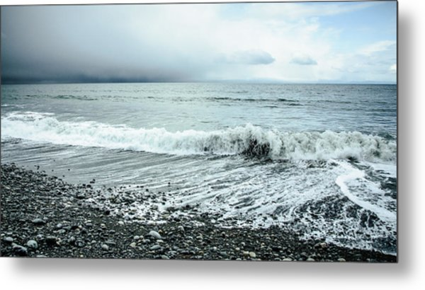 Moody Shoreline French Beach Metal Print