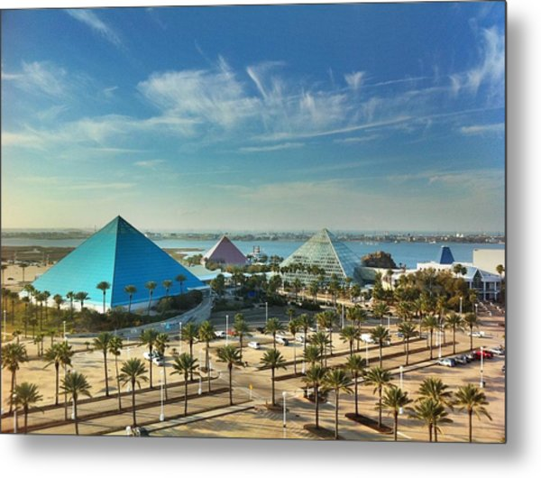Moody Gardens In Galveston Metal Print