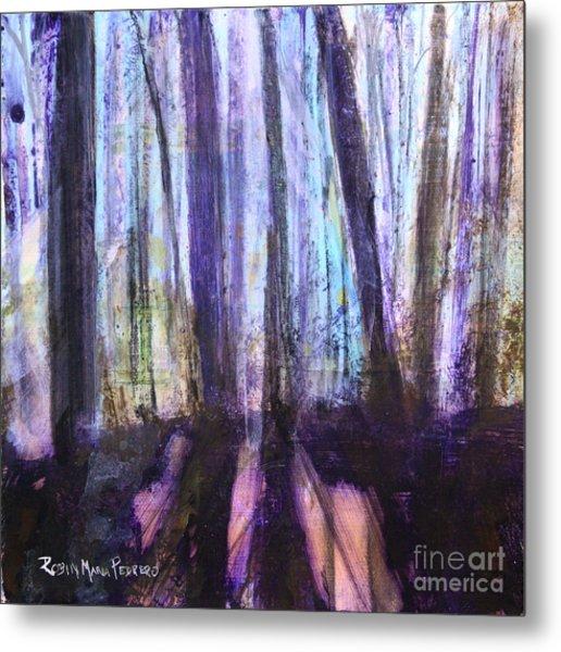 Moody Woods Metal Print