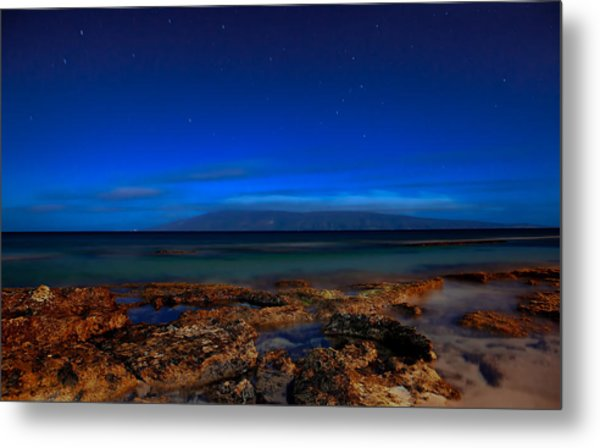 Metal Print featuring the photograph Moon And Star Light by David Buhler