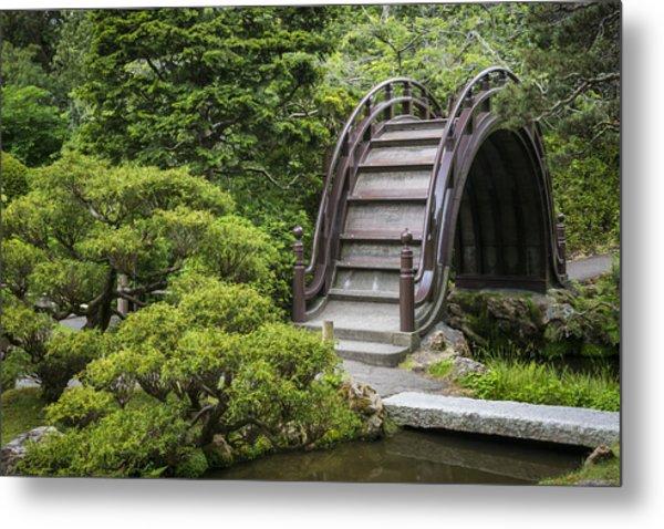 Moon Bridge - Japanese Tea Garden Metal Print