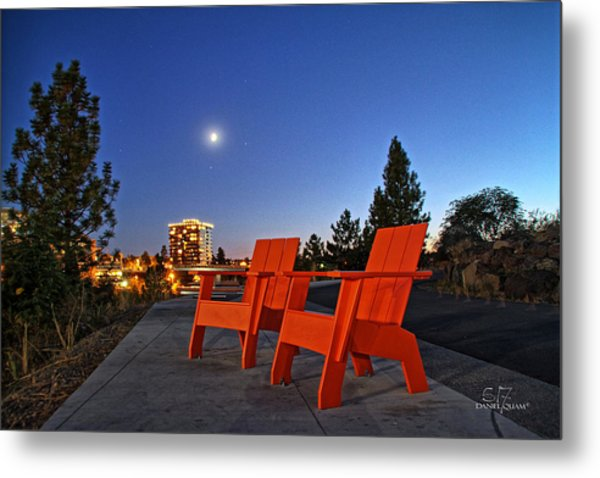 Moon Chairs Metal Print by Dan Quam