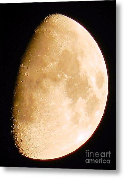 Moon Craters Galore Metal Print