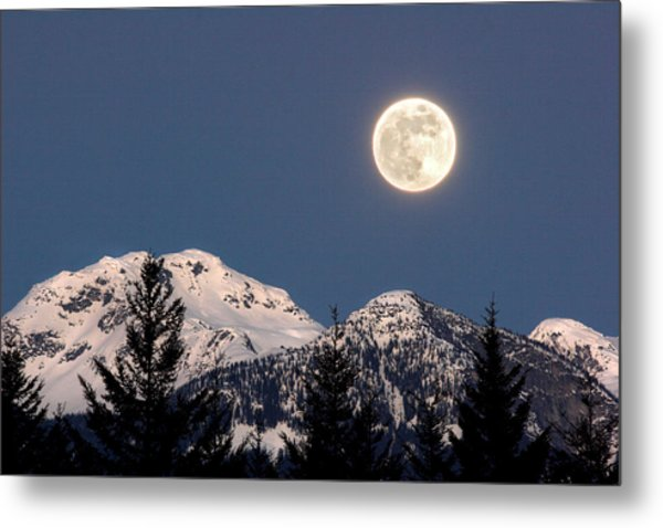 Moon Glow Whistler Canada Metal Print