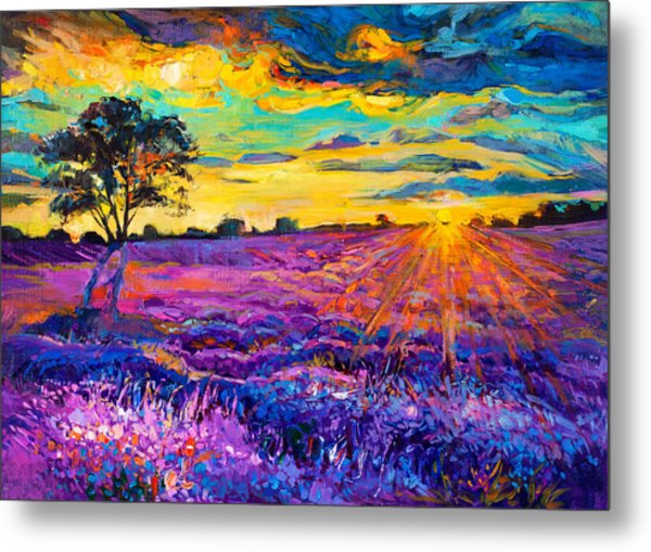 Lavender Field Painting By Ivailo Nikolov