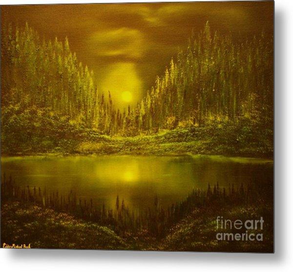 Moon Lake Reflection-original Sold- Buy Giclee Print Nr 33 Of Limited Edition Of 40 Prints  Metal Print