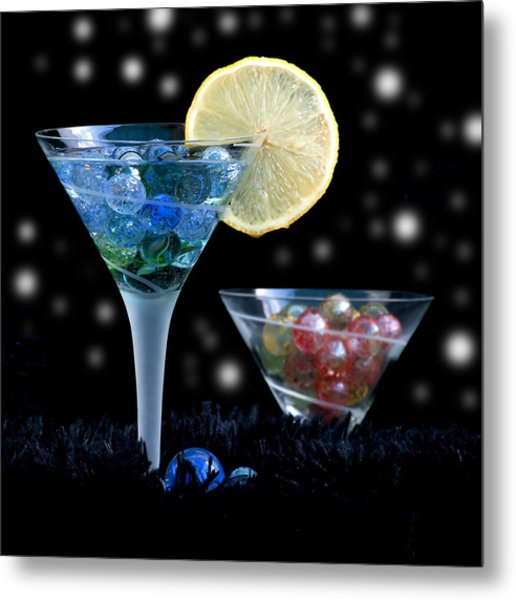 Moon Light Cocktail Lemon Flavour With Stars 1 Metal Print