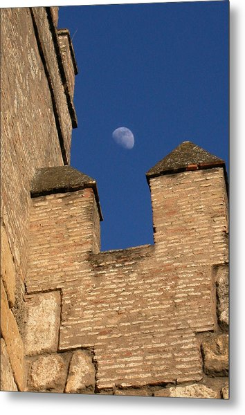 Moon Over Alcazar Metal Print
