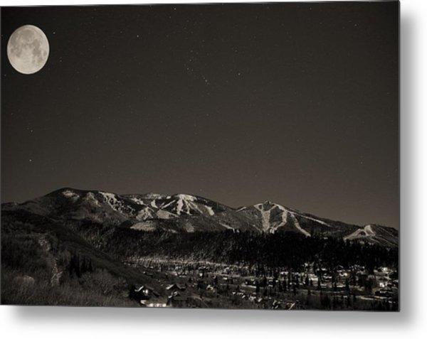 Moon Over Mt. Werner Metal Print